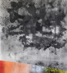 Besuch (2020) / charcoal and pastel on paper/ 220 x 240 cm