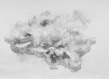 'Untitled drawing (stratification)' / charcoal drawing on paper / 2015 / 290 cm x 220 cm